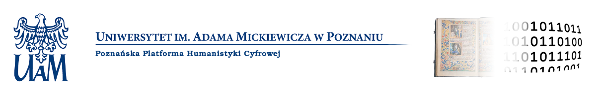 Logo for Poznańska Platforma Humanistyki Cyfrowej